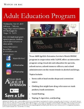 Flyer about education program
